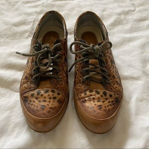 Rare Icon Artists brown leopard cub leather shoes